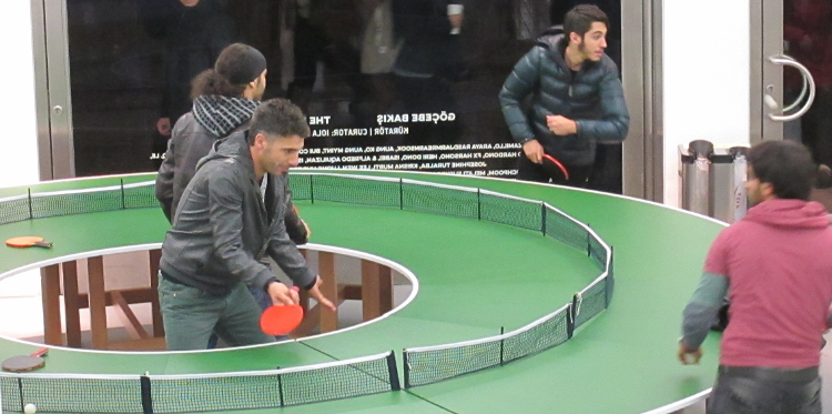 Lee Wen 'Ping-Pong Go Round' at Arter, Istanbul 750x373
